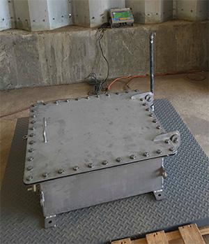 stainless steel NEMA 6P enclosure with hinge
